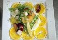 Салат из тофу и теплых слив. Видеорецепт
