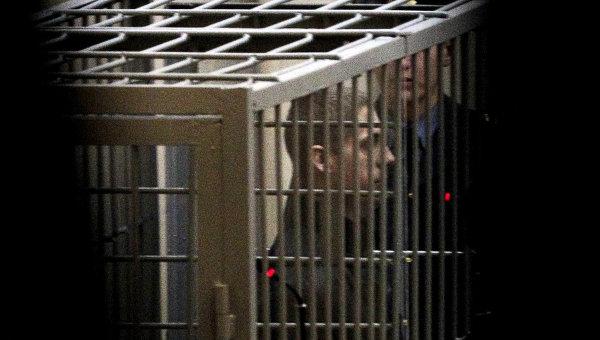 Владислав Ковалев в зале Верховного суда Белоруссии на оглашении приговора в совершении теракта