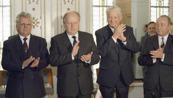 8 декабря 1991 года Россия, Белоруссия и Украина подписали Соглашение о создании Содружества Независимых Государств