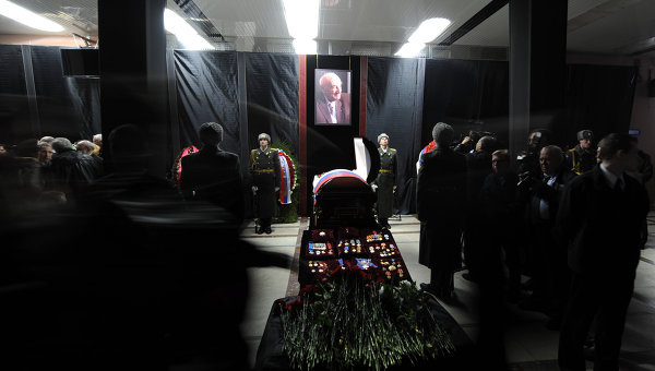 Гражданская панихида по академику Борису Чертоку в Королеве