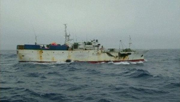 Российское рыболовное судно Спарта, терпящее бедствие у берегов Антарктиды