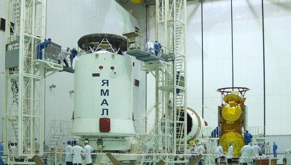 Спутник связи Ямал-201, принадлежащий компании Газпром - Космические системы. Архивное фото