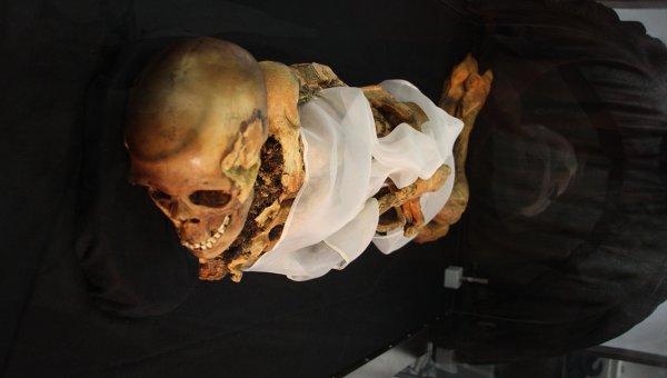 Мумия женщины, найденная ранее на плоскогорье Укок и прозванная в народе алтайской принцессой. Архивное фото
