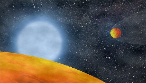 Хтонические, или поджаренные планеты KOI 55.01 и KOI 55.02 глазами художника