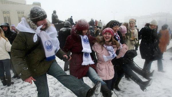 Празднование Дня студентов на Ленинских горах