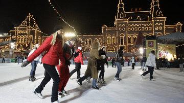 Празднование Дня студента на катке на Красной площади. Архивное фото