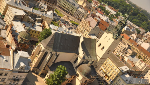 Вид Львова, архивное фото