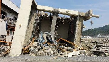 Последствия цунами 2011 года в Японии. Архивное фото