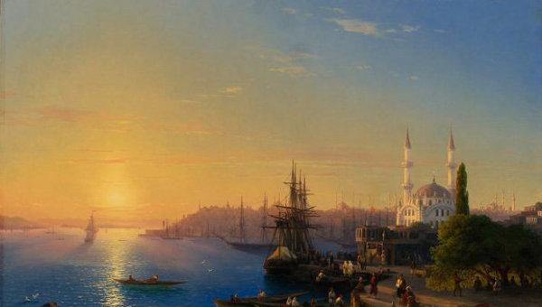 Полотно Ивана Айвазовского Вид Константинополя и Босфорского залива