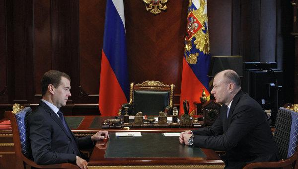 Президент РФ Д.Медведев провел встречу с президентом Интерроса В.Потаниным