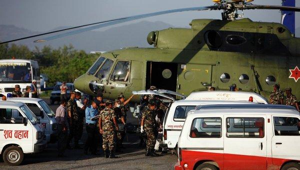 Операция по спасению выживших в авиакатастрофе в Непале