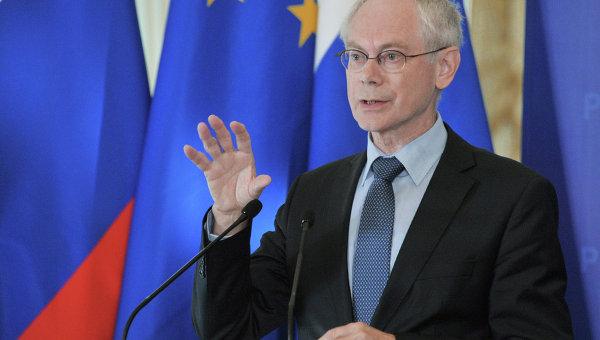 Председатель Европейского Совета Херман Ван Ромпей. Архив