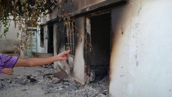 После обстрела в сирийской деревне Тремса