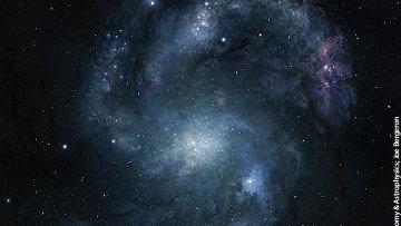 Древнейшая спиральная галактика BX442. Архив