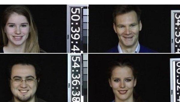 Снимки из базы улыбок, созданной учеными университета Амстердама