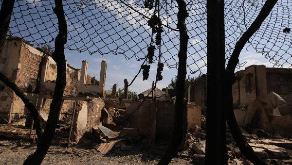 В городе Цхинвале, подвергшемся нападению грузинских войск