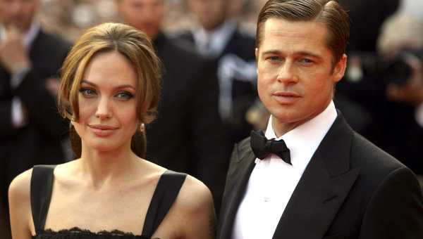 А.Джоли и Б.Питт на 60-м Каннском кинофестивале