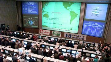 Центр управления полетами. Архивное фото
