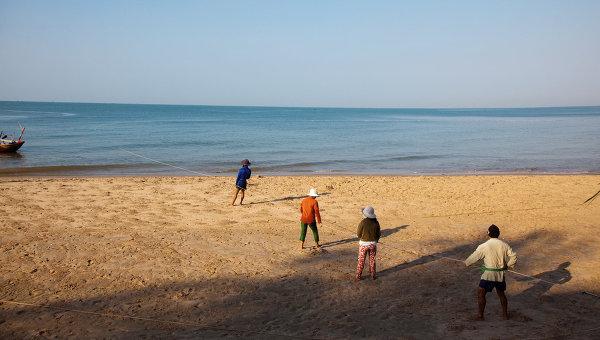 На берегу Южно-Китайского моря. Архивное фото
