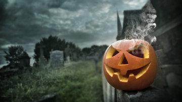 Тыква на празднике Хэллоуин, архивное фото