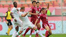 Игровой момент матча Локомотив — Рубин