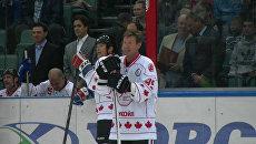 Павел Буре забил шайбу в пустые ворота на матче звезд мирового хоккея