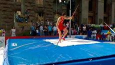 Спортсмены из России и Польши пытались преодолеть гравитацию в Киеве