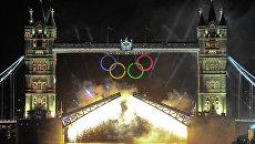 Лондон во время церемонии открытия Олимпийских игр