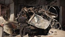 Последствия терактов в Ираке, при которых погибли более 50 человек