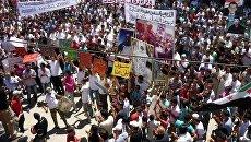 Протесты в городе Дераа