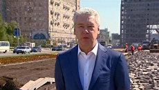 Собянин пообещал новое дыхание реконструируемой Триумфальной арке