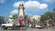 Памятник героям Плевны привели в порядок после народных гуляний в Москве