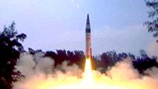 Индия подняла в воздух 50-титонную баллистическую ракету Агни-5