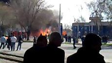Взрыв на заправке в центре Ташкента. Кадры с места ЧП