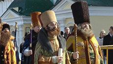 Костромичи отметили призвание Романова на царство, надев костюмы бояр