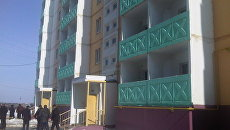 Новый дом, где будут жить жильцы обрушившегося дома в Астрахани