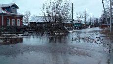 Подтопление северных микрорайонов Архангельска из-за нагонного ветра с Белого моря