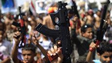 Антиправительственная демонстрация в Йемене