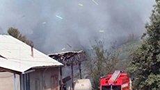 Пожар на складе пиротехники вблизи Бишкека был виден в столице Киргизии
