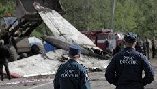 На месте крушения самолета Ту-134 под Петрозаводском. Архивное фото