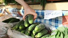 Продажа овощей на рынке