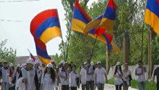 Молодые активисты открыли Эстафету Георгиевской ленточки в Ереване