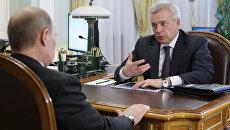 Владимир Путин и Вагит Алекперов. Архивное фото