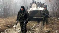 Сотрудники ФСБ показали уничтоженный лагерь боевиков