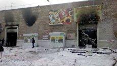 Пожар на продовольственной базе в Уфе