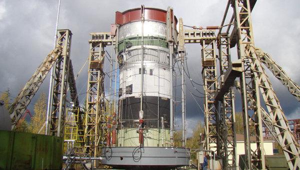 Криостатические испытания третьей ступени ракеты Ангара. Архив