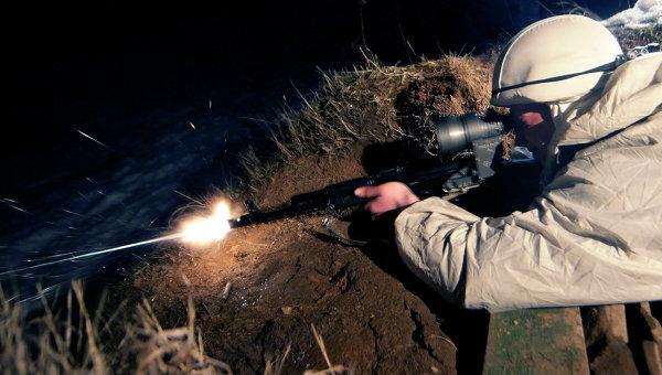 Разведчик-снайпер. Архивное фото