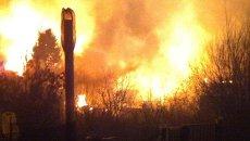 Пожар на газопроводе. Архивное фото