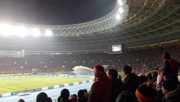 Спартак - Барселона в Москве. Архивное фото