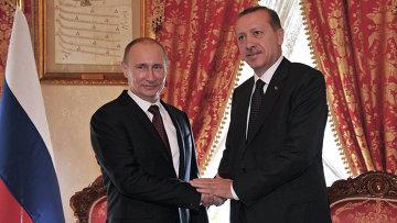 Владимира Путина и Реджеп Эрдоган. Архивное фото